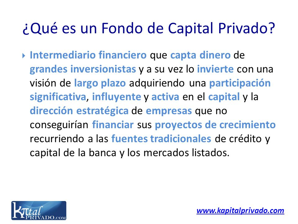 ¿Qué es un Fondo de Capital Privado