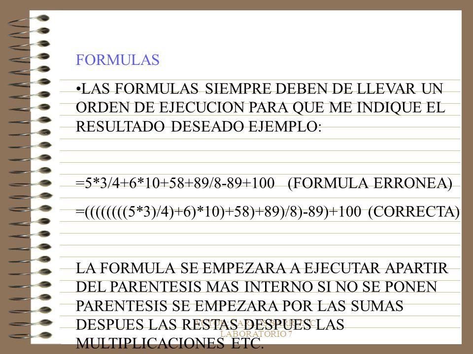 AUTOR: CARLOS BARRON C. LABORATORIO 7