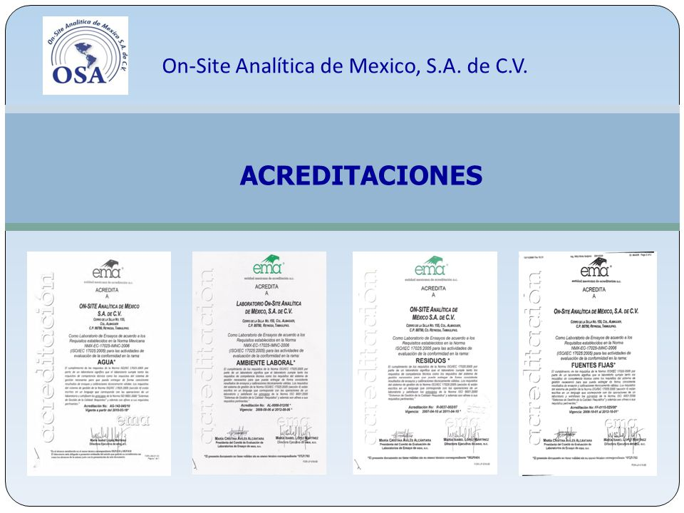 On-Site Analítica de Mexico, S.A. de C.V.