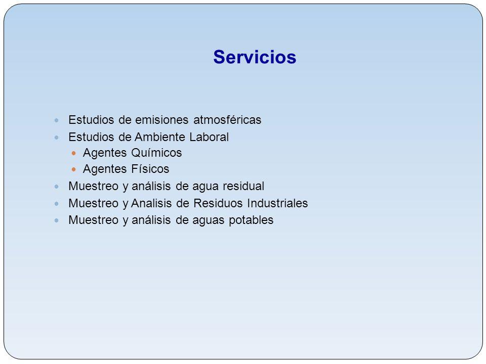 Servicios Estudios de emisiones atmosféricas