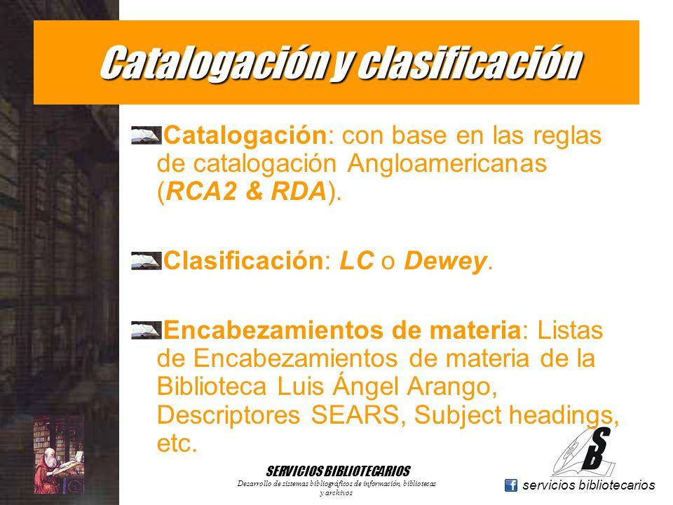 Catalogación y clasificación
