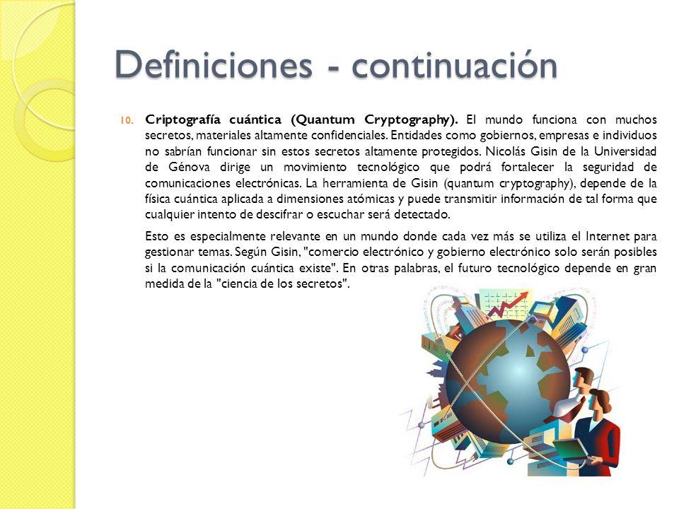 Definiciones - continuación