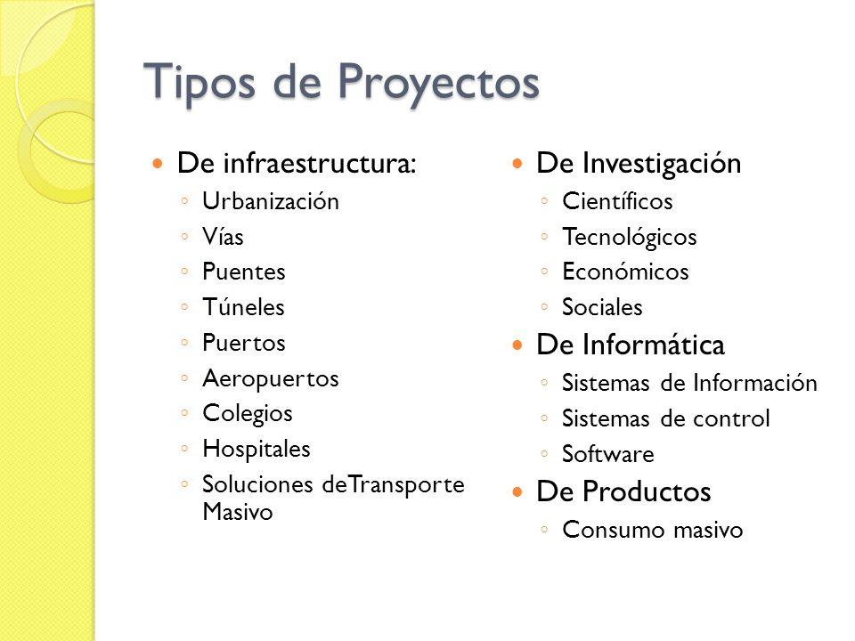 Tipos de Proyectos De infraestructura: De Investigación De Informática