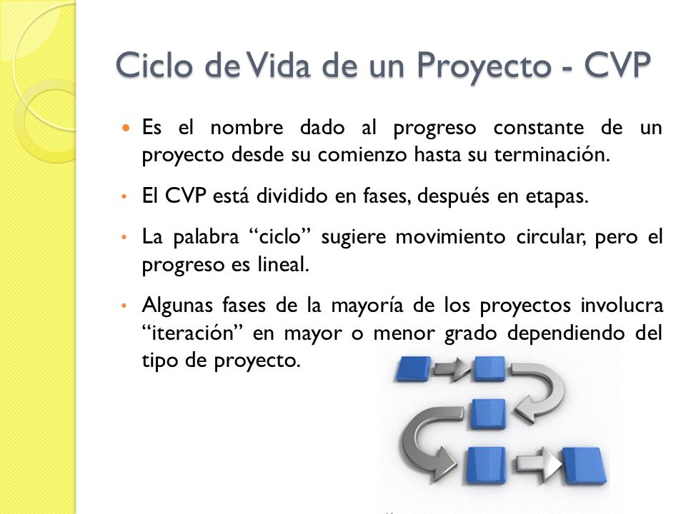 Ciclo de Vida de un Proyecto - CVP