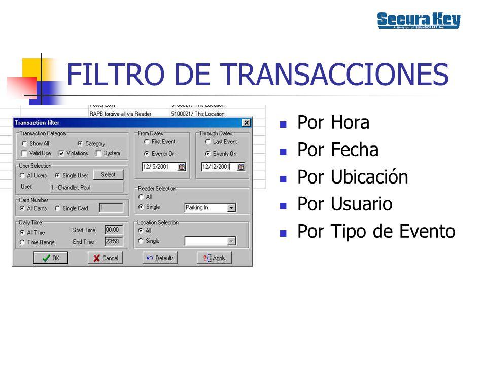 FILTRO DE TRANSACCIONES