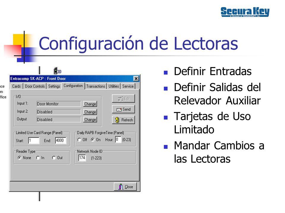 Configuración de Lectoras