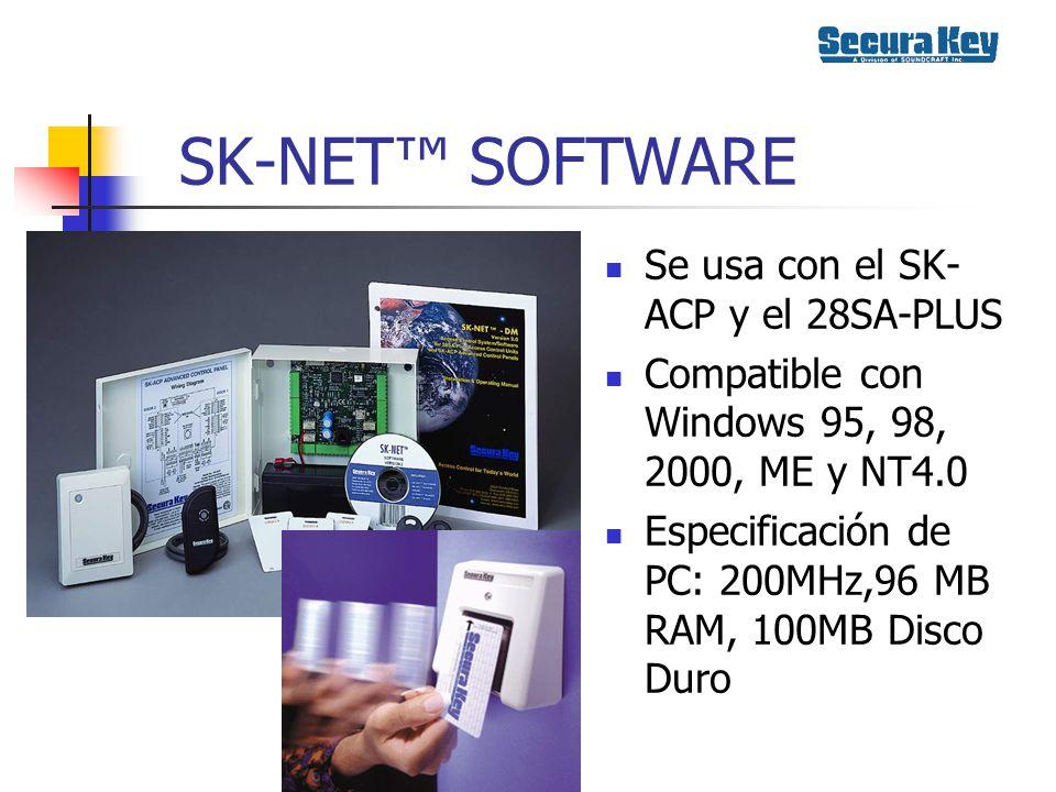 SK-NET™ SOFTWARE Se usa con el SK-ACP y el 28SA-PLUS