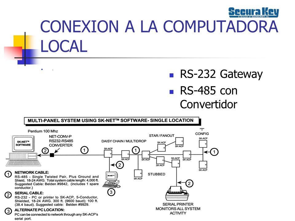 CONEXION A LA COMPUTADORA LOCAL