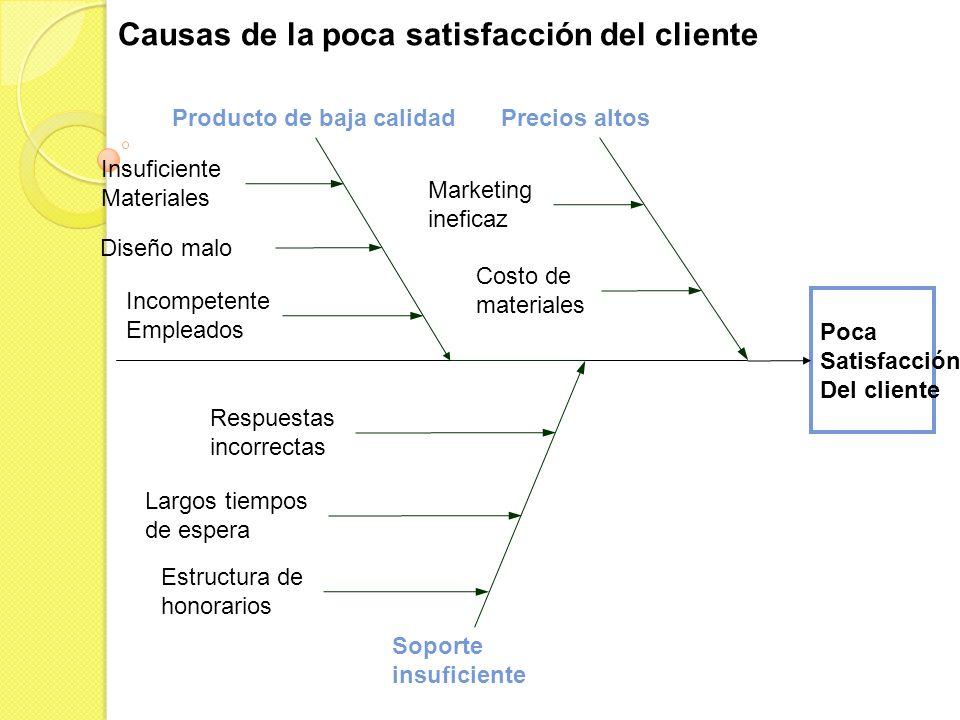 Causas de la poca satisfacción del cliente