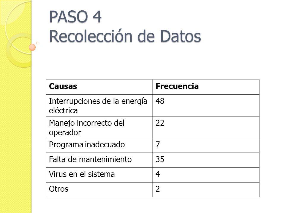 PASO 4 Recolección de Datos