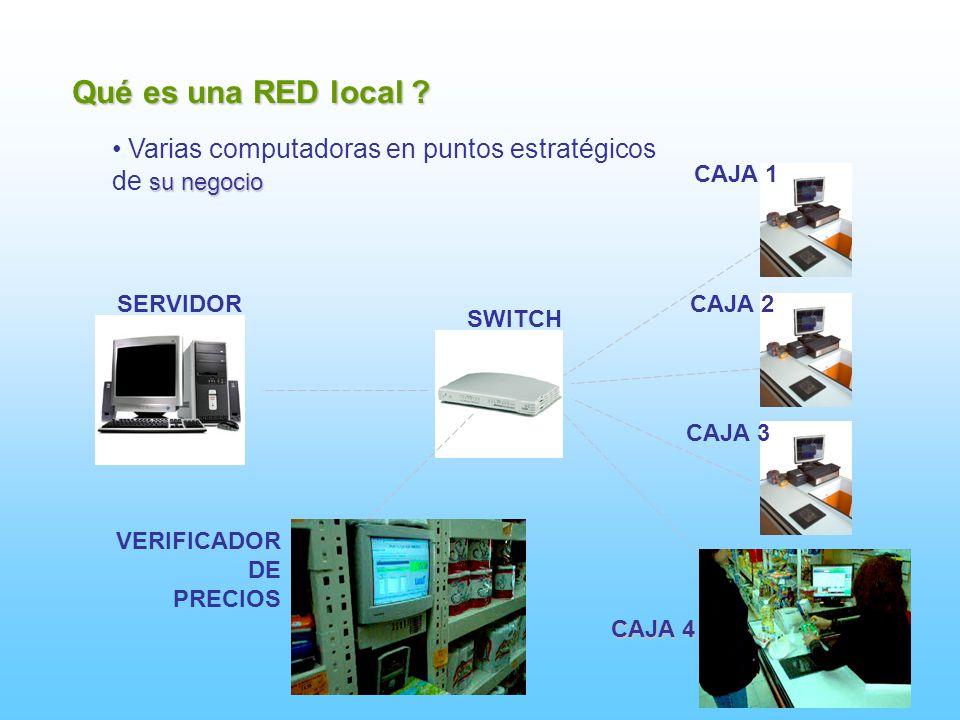 Qué es una RED local Varias computadoras en puntos estratégicos