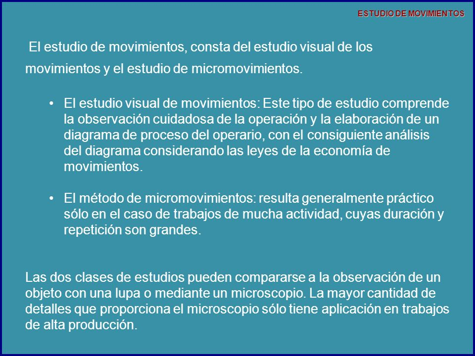 ESTUDIO DE MOVIMIENTOS