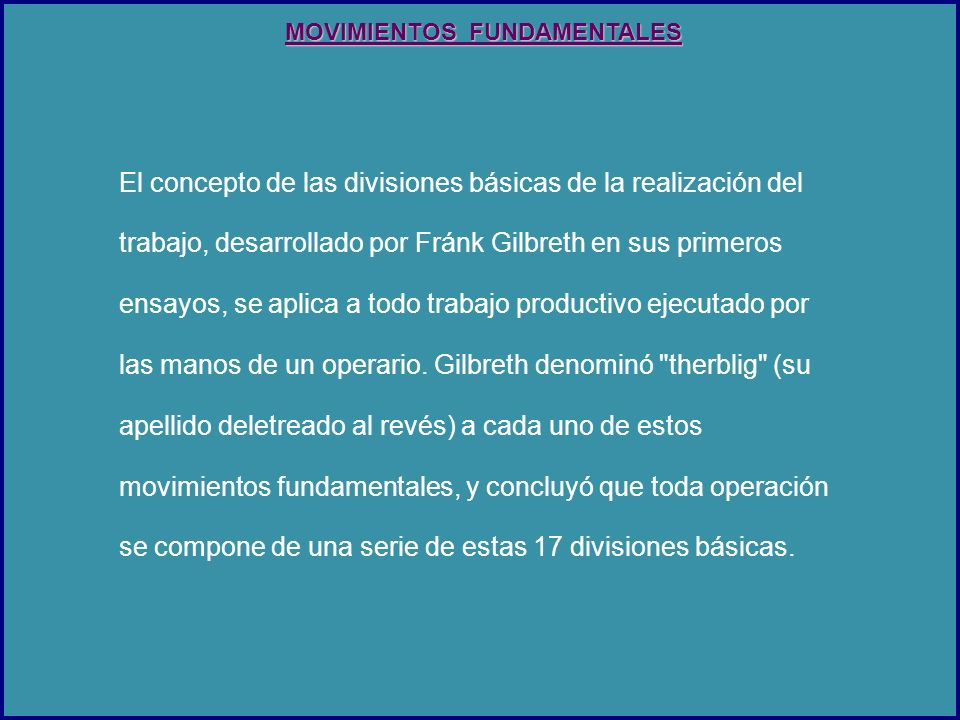 MOVIMIENTOS FUNDAMENTALES
