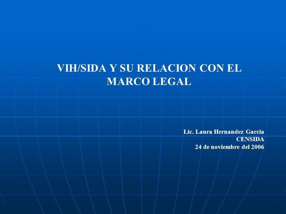 VIH/SIDA Y SU RELACION CON EL MARCO LEGAL