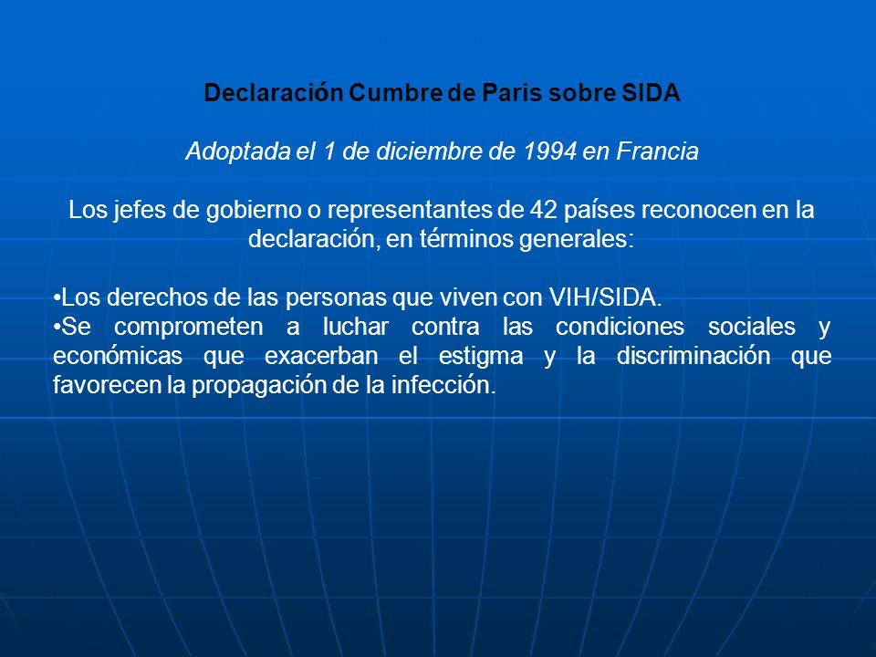 Declaración Cumbre de Paris sobre SIDA