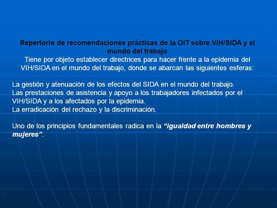 Repertorio de recomendaciones prácticas de la OIT sobre VIH/SIDA y el mundo del trabajo