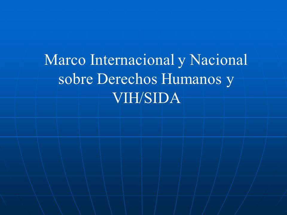 Marco Internacional y Nacional sobre Derechos Humanos y VIH/SIDA