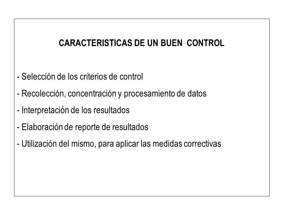 CARACTERISTICAS DE UN BUEN CONTROL