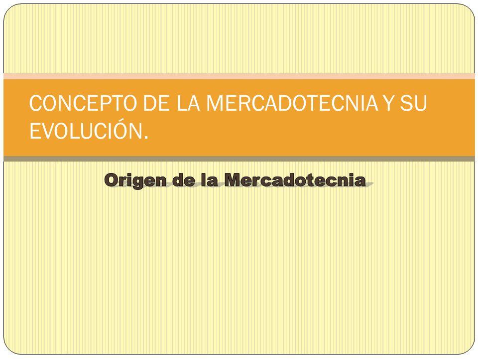 CONCEPTO DE LA MERCADOTECNIA Y SU EVOLUCIÓN.