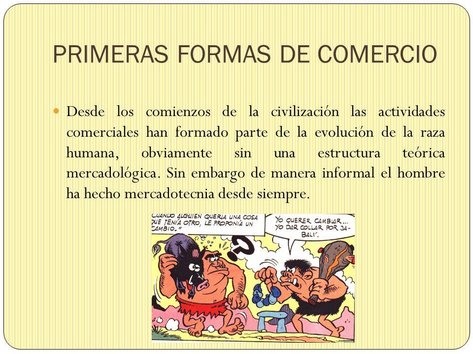 PRIMERAS FORMAS DE COMERCIO