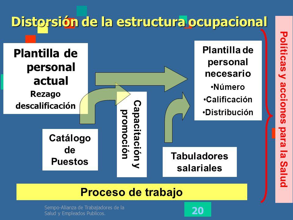 Distorsión de la estructura ocupacional