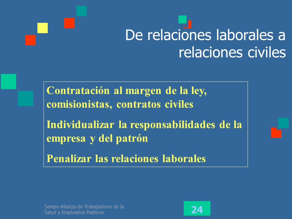 De relaciones laborales a relaciones civiles