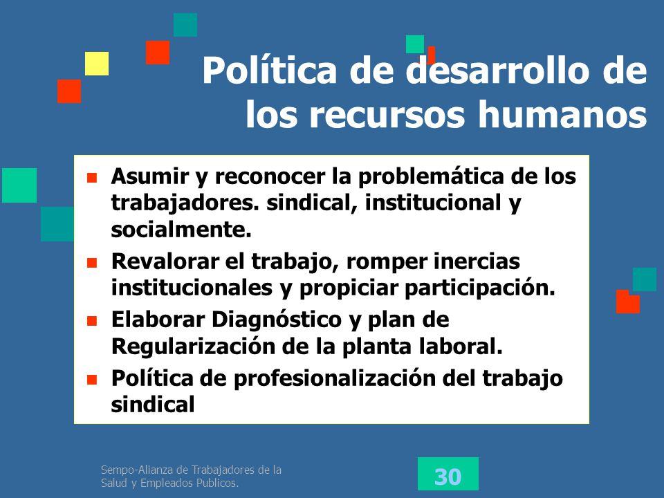 Política de desarrollo de los recursos humanos