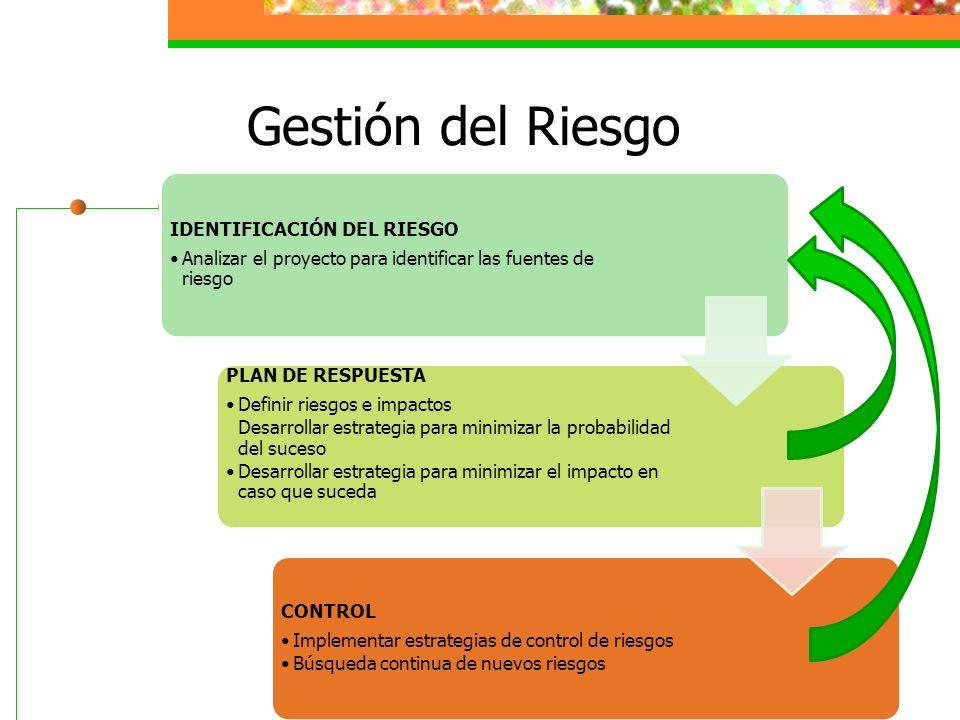 Gestión del Riesgo IDENTIFICACIÓN DEL RIESGO