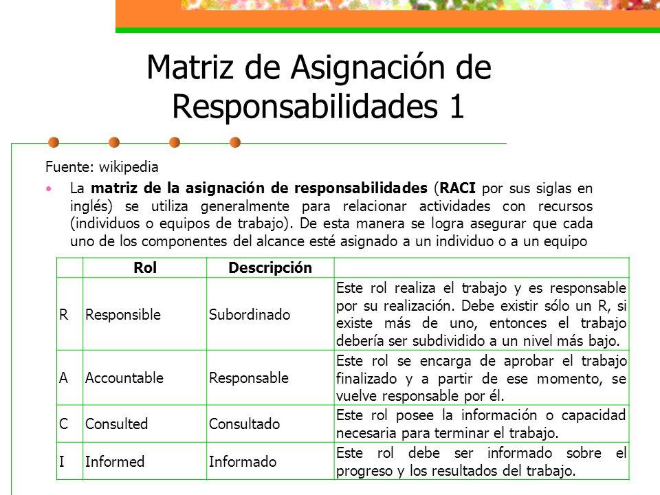 Matriz de Asignación de Responsabilidades 1