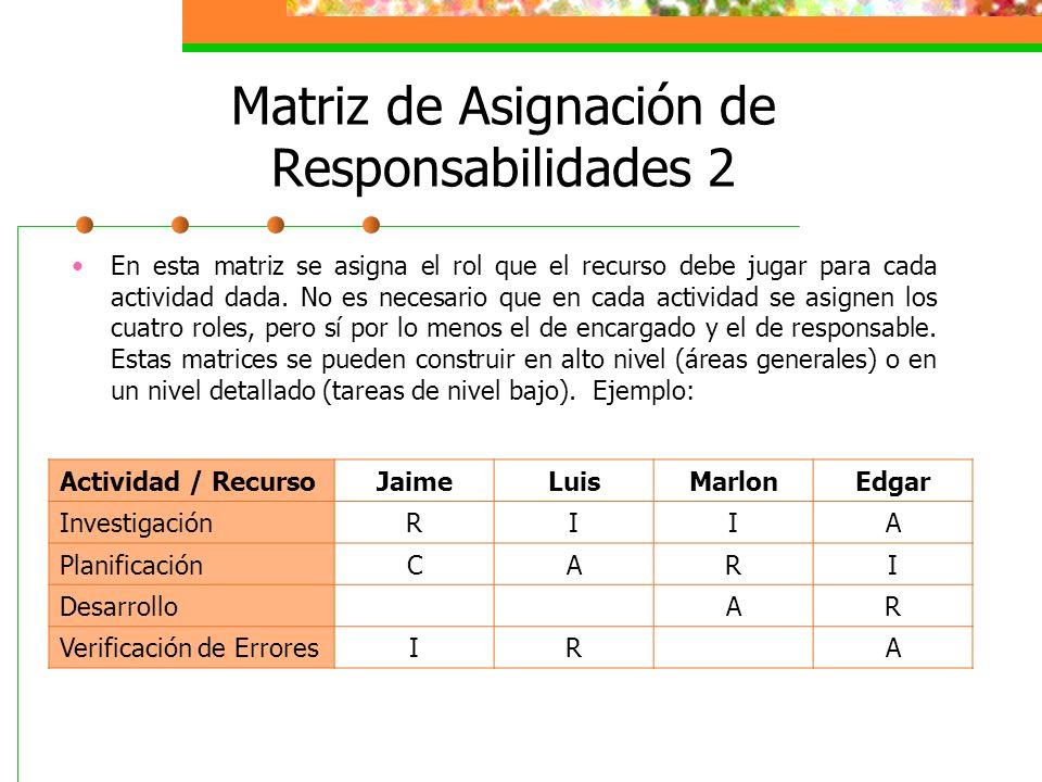 Matriz de Asignación de Responsabilidades 2