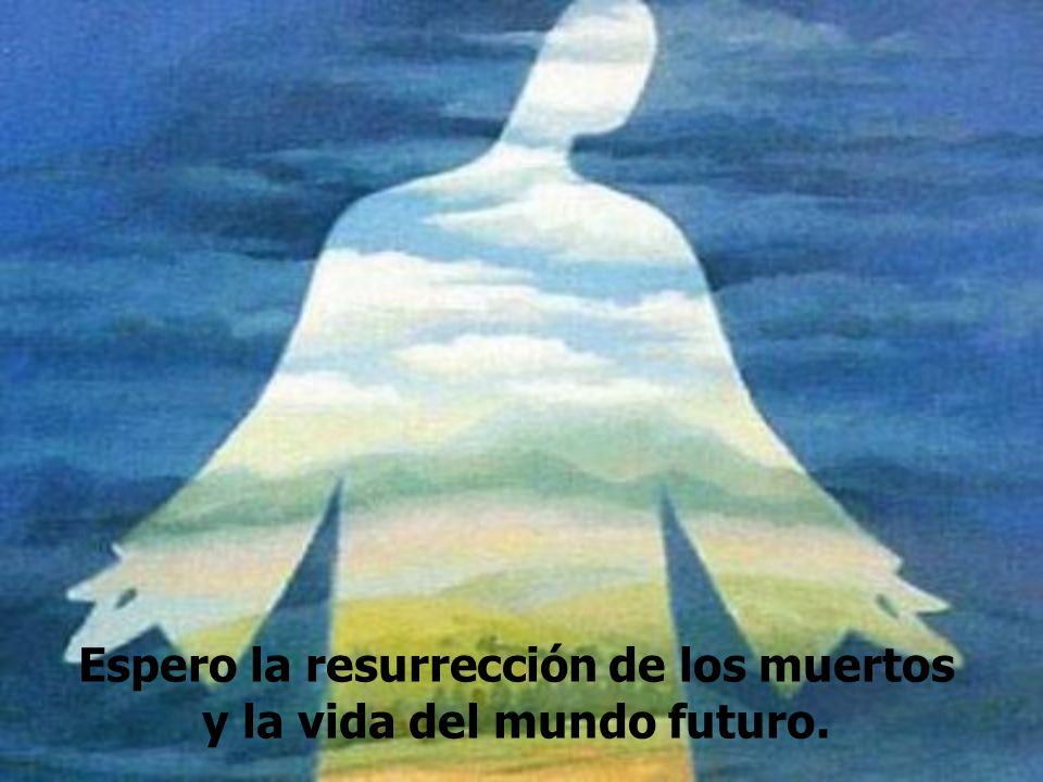 Espero la resurrección de los muertos y la vida del mundo futuro.