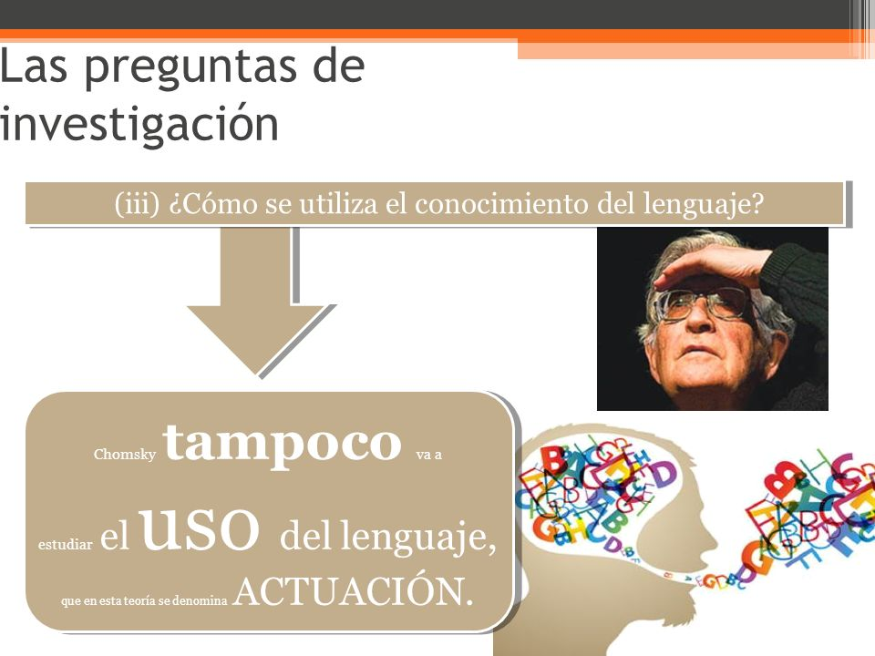 (iii) ¿Cómo se utiliza el conocimiento del lenguaje