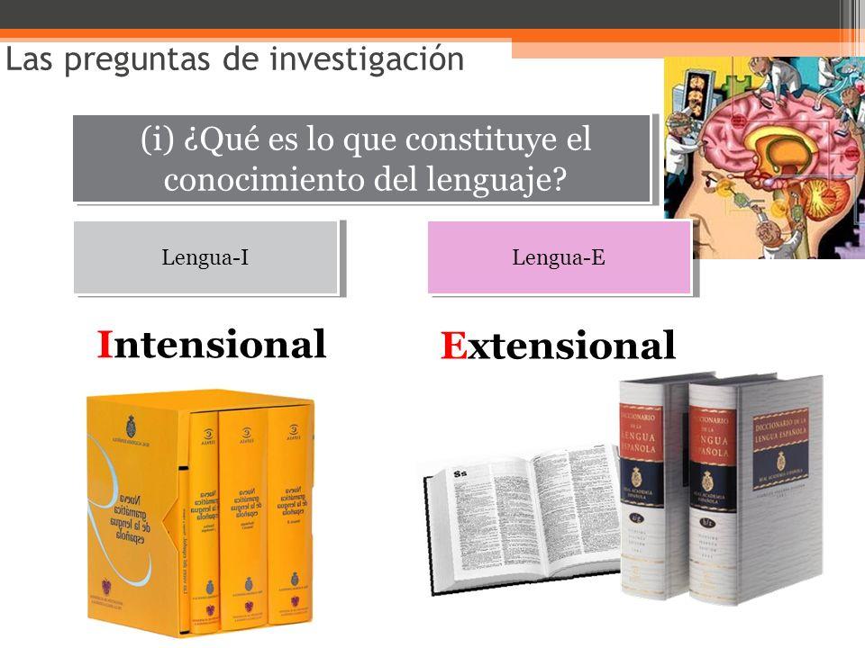 (i) ¿Qué es lo que constituye el conocimiento del lenguaje
