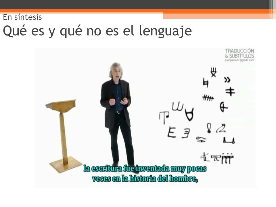 En síntesis Qué es y qué no es el lenguaje
