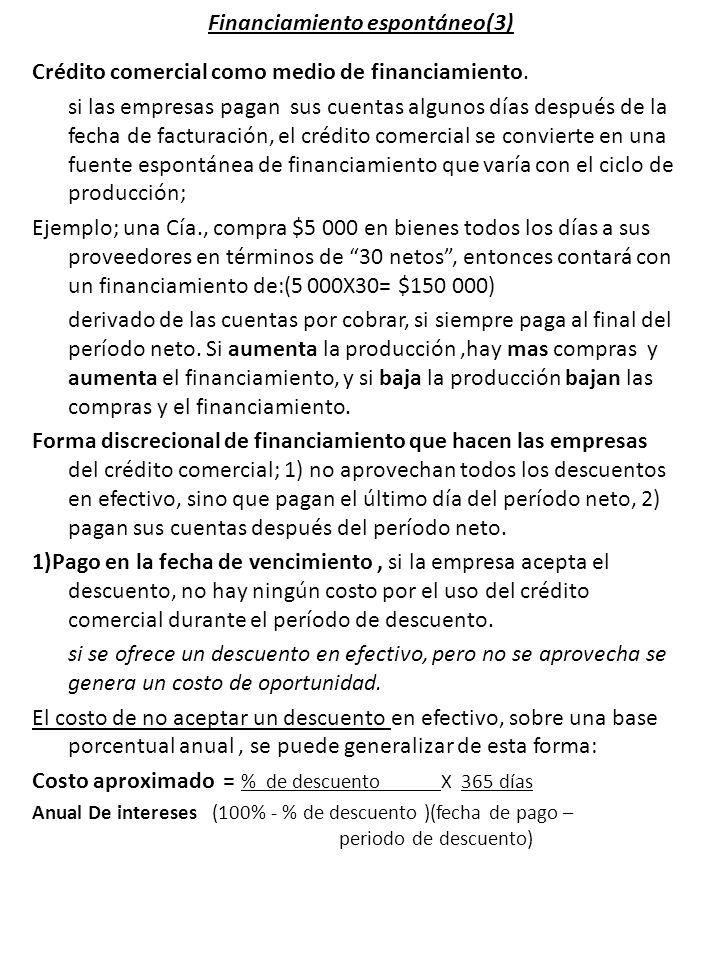 Financiamiento espontáneo(3)