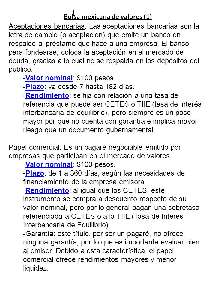 Bolsa mexicana de valores (1)