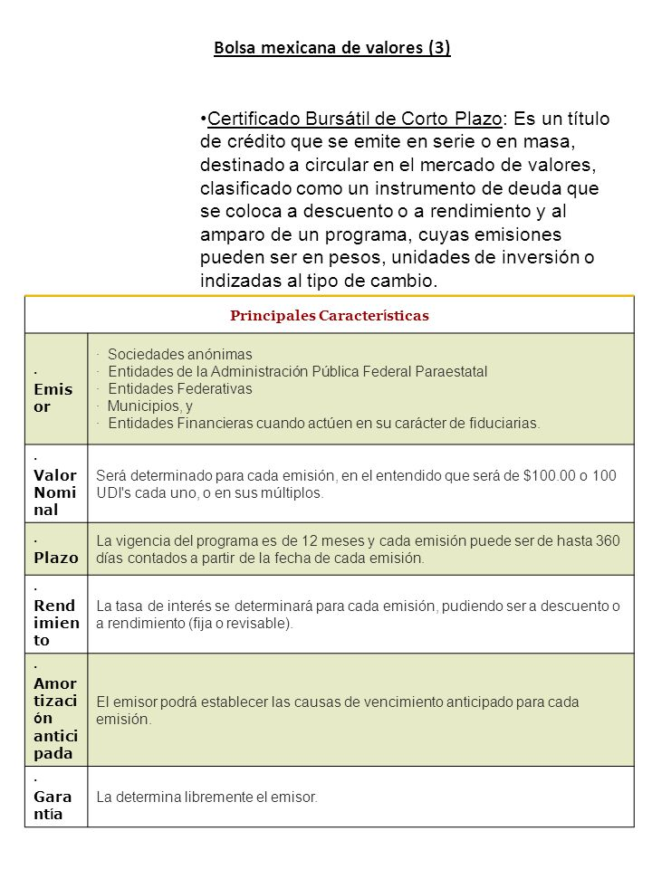 Bolsa mexicana de valores (3)