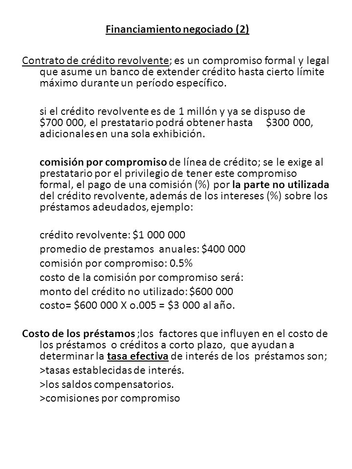 Financiamiento negociado (2)