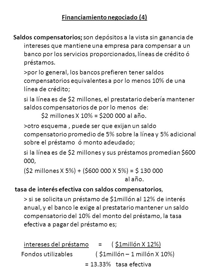 Financiamiento negociado (4)