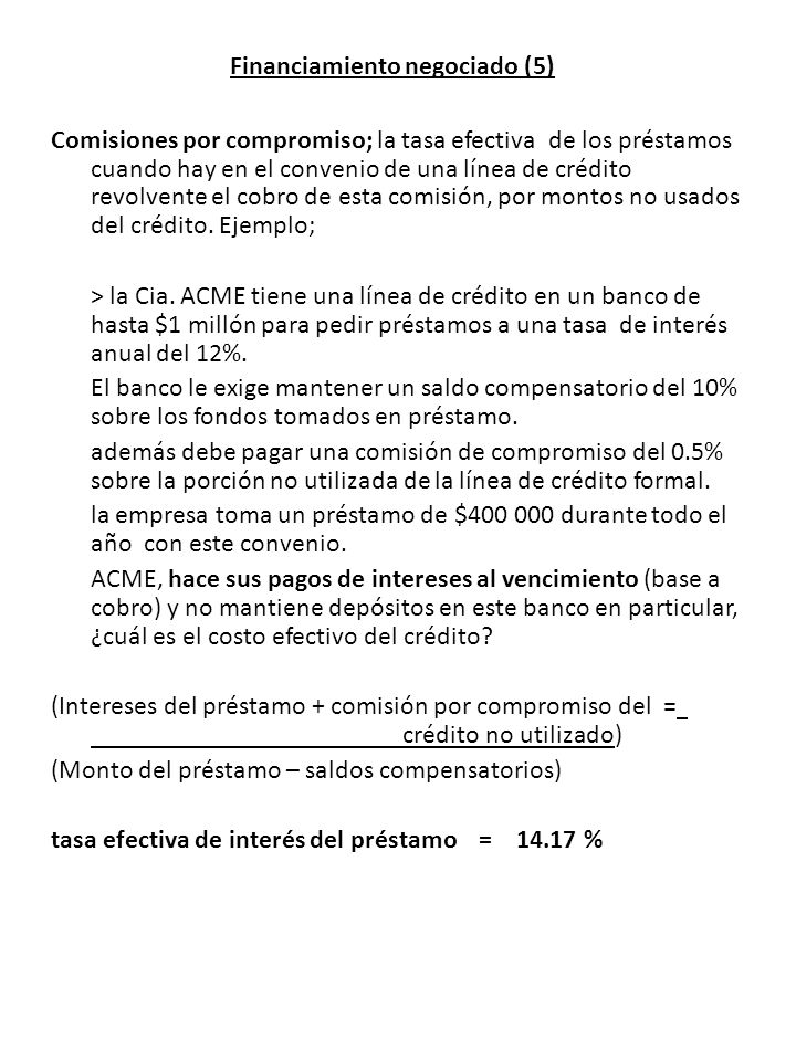 Financiamiento negociado (5)