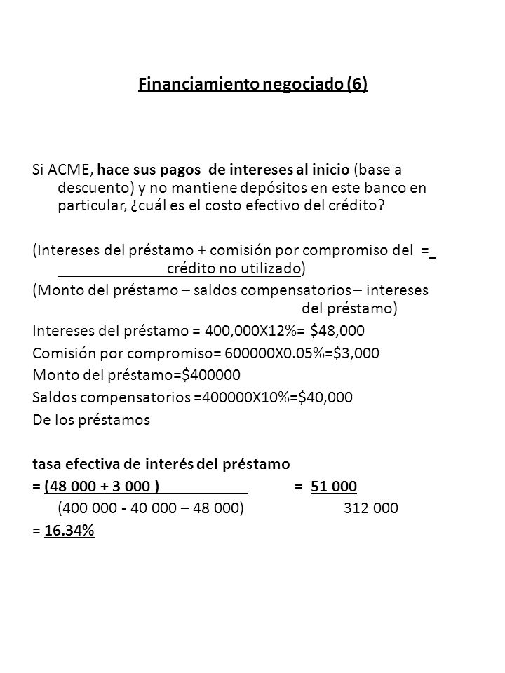 Financiamiento negociado (6)