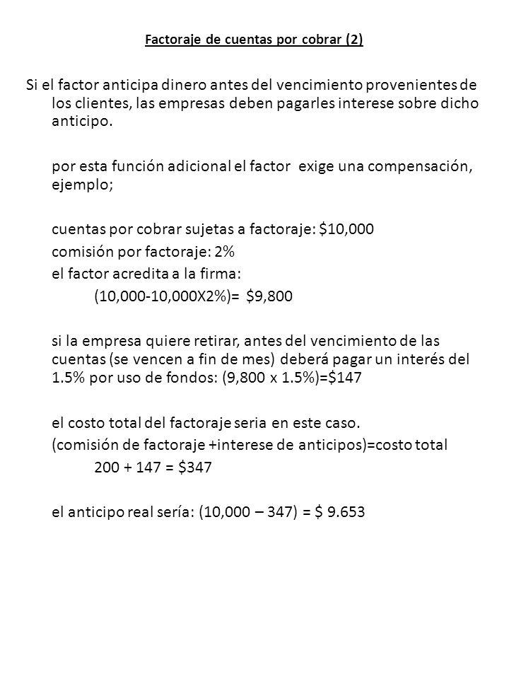 Factoraje de cuentas por cobrar (2)