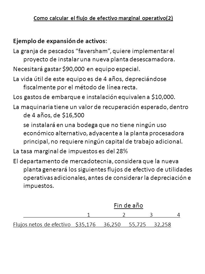 Como calcular el flujo de efectivo marginal operativo(2)