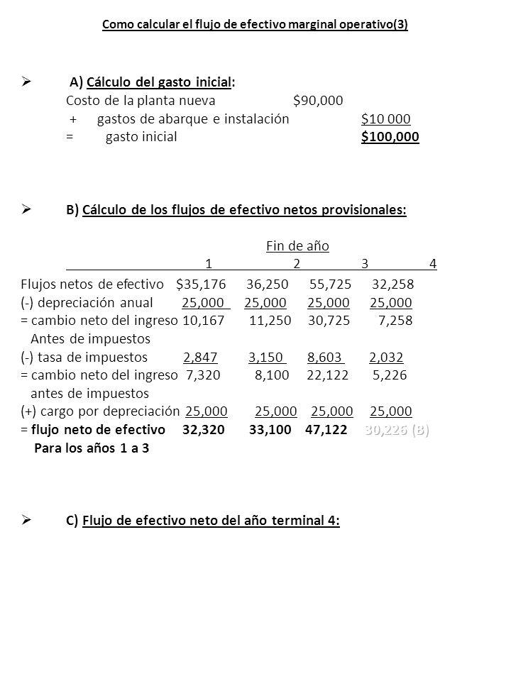 Como calcular el flujo de efectivo marginal operativo(3)