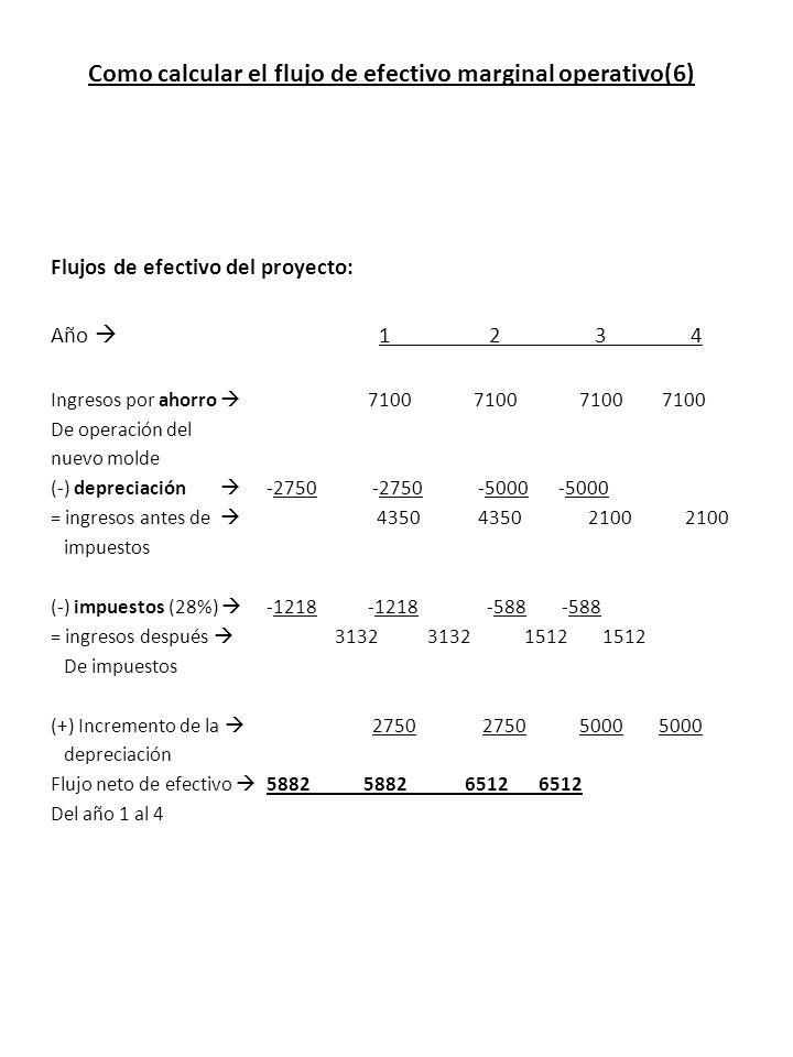 Como calcular el flujo de efectivo marginal operativo(6)