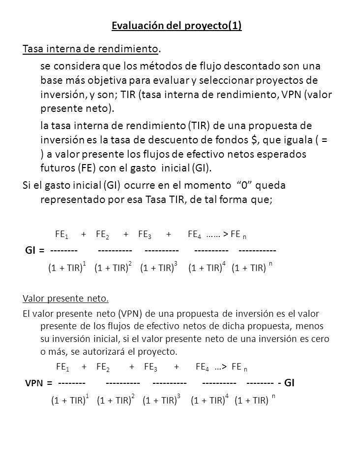 Evaluación del proyecto(1)