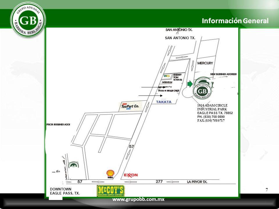 Información General www.grupobb.com.mx 7 SAN ANTONIO TX. DOWNTOWN