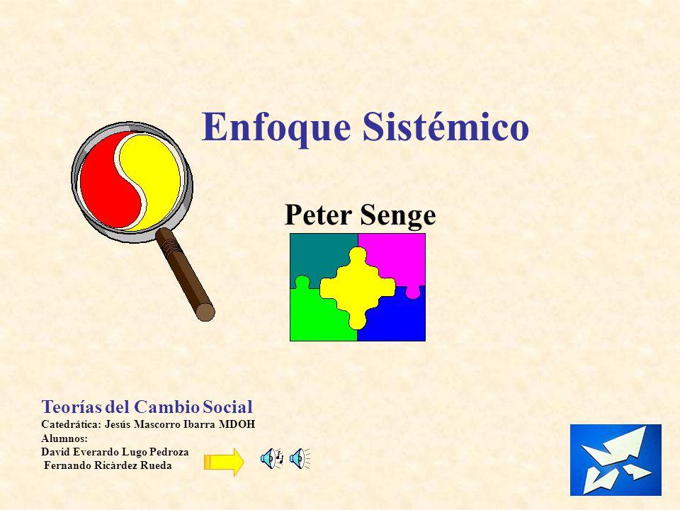 Enfoque Sistémico Peter Senge Teorías del Cambio Social
