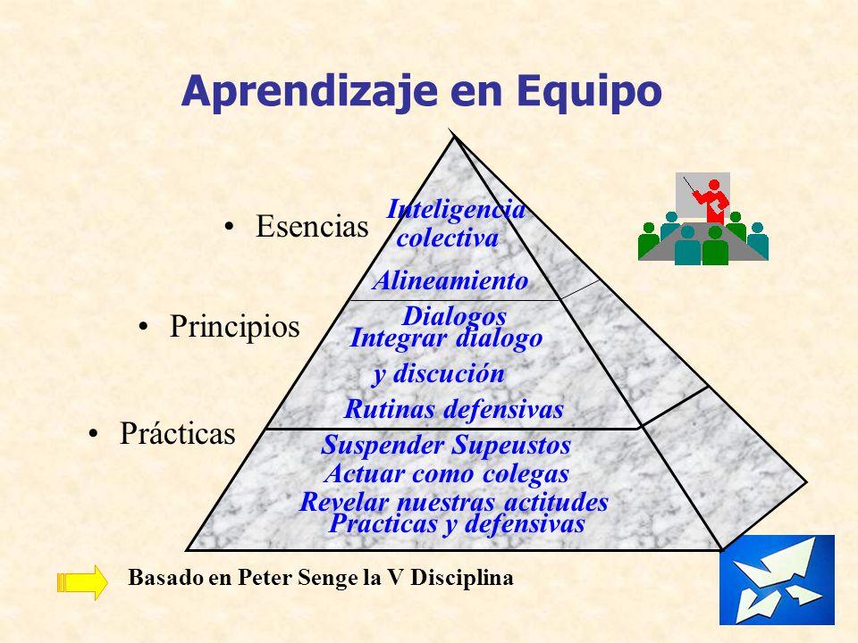 Aprendizaje en Equipo Esencias Principios Prácticas colectiva Dialogos
