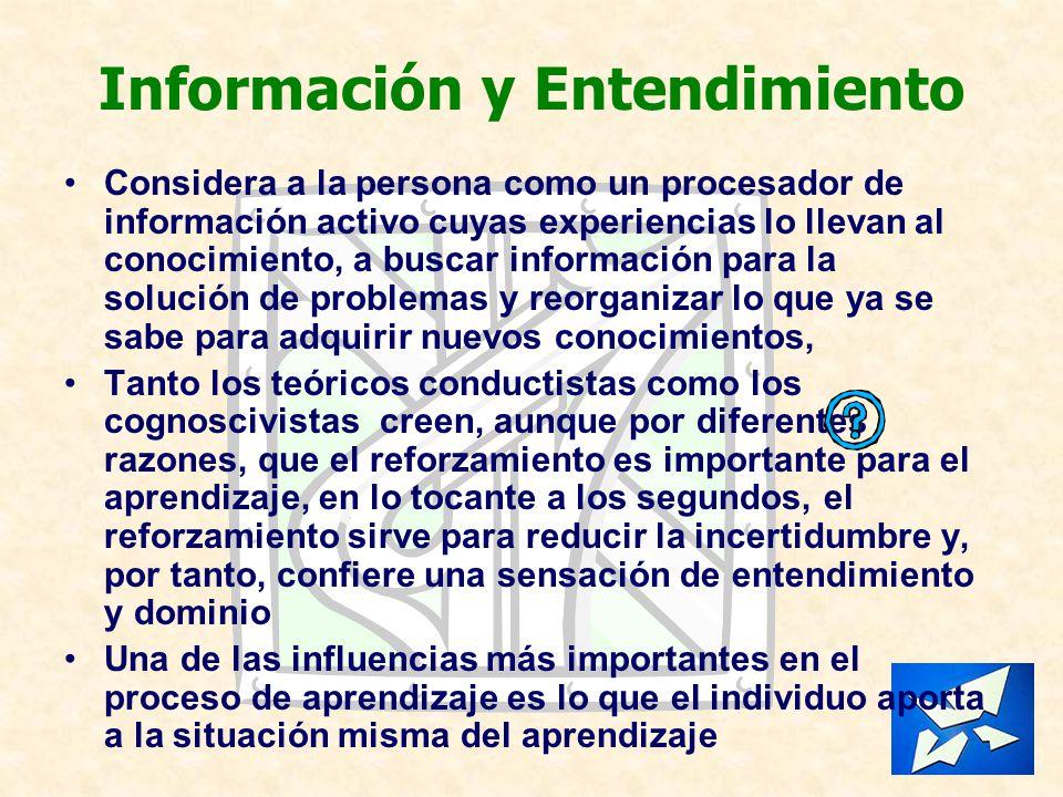 Información y Entendimiento